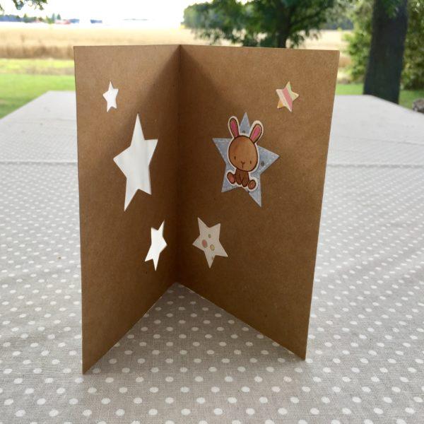 Gratulasjonskort med stjerner - innside
