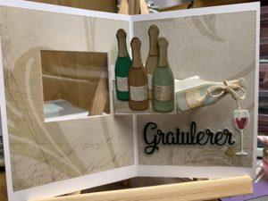 Et kort med en vin-vri
